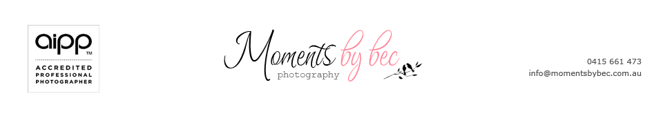 Gold Coast Photographer – Moments by bec logo
